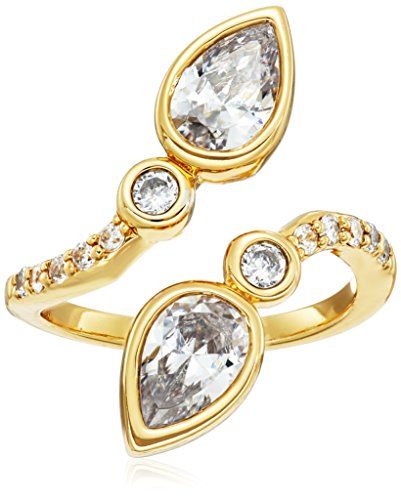 nicole-miller-pear-crossover-gold-ring-size-7