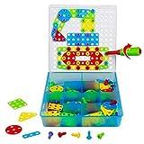 TONZE Jeu de Construction Puzzle Enfant Jouet Fille Garcon 3 Ans et Plus Motricité Fine Pegboard avec 180 Pcs