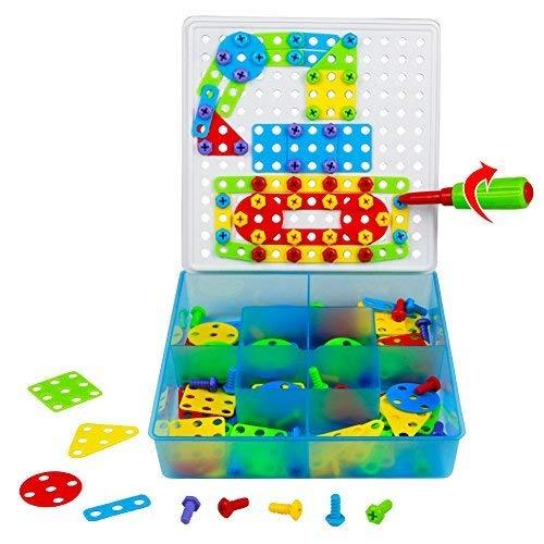 TONZE Jeu de Construction Puzzle Enfant Jouet Fille Garcon 3...
