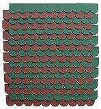 2m²-5-Sets Mini Dachschindeln,Braun,Dachpappe,Hundehütte,Vogelhaus,Hasenstall,Gehege,Abdeckung,Biberschwanz,Sandkasten