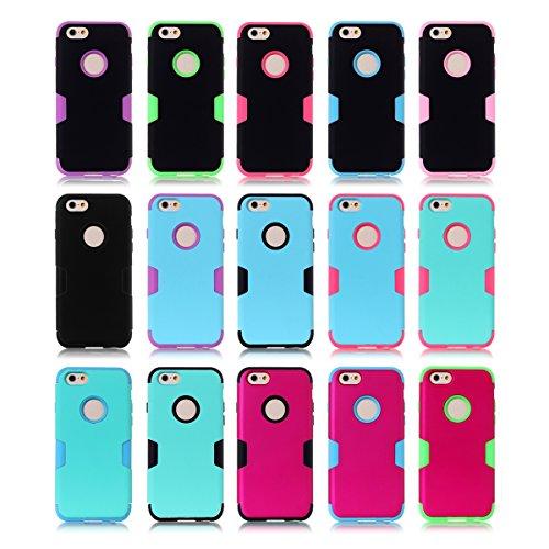 iPhone 6 / iPhone 6s 4.7 inch Hülle LifeePro [Anti-Scratch] Drop Protection 3 in 1 Weich Silicone + PC Stoßfest Armor Zurück Hüllenabdeckung Non-slip Voll Körper Schutzschale für iPhone 6 / iPhone 6s  Blau + lila