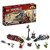 LEGO Ninjago - Moto Acuchilladora de Kai y Motonieve de Zane, juguete de construcción divertido de...