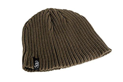 SOLO SOPRANI cappello cuffia marrone uomo donna invernale unisex acrilico L925