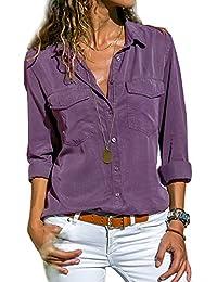 86c52f0ca37 Amazon.fr   chemisier femme chic - Violet   Femme   Vêtements