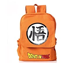 Dragon Ball Z mochila mochila lienzo mochila escolar Dragon Ball Naranja