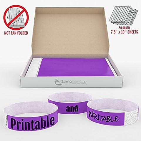 19mm Deep Purple GrandstandStore.com Tyvek Event Wristbands for easy vip identification - 500CT BOX