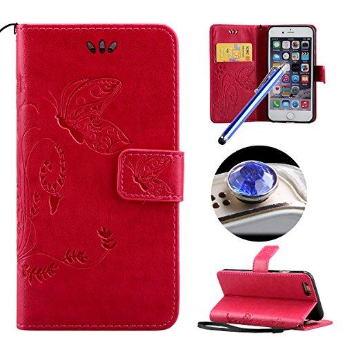 custodia a libro iphone 6 rosa
