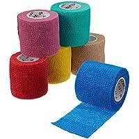 6 x cohesive Bandage, Haftbandage, elastischer Fixierverband, Verband, elastische Binde, 5 cm preisvergleich bei billige-tabletten.eu