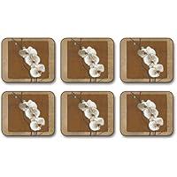 Jason D2124 Golden Orchid Coasters, Set of 6