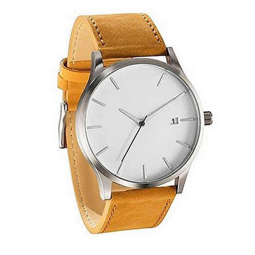 Uhren Damen Herren Armbanduhr Analoge Quarz Runde Handgelenk Armbanduhr der Paar Mode Freizeit Kunstleder Wrist Watch Armbanduhr Lässig Uhrenarmband Watch,ABsoar