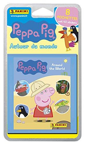 Panini France SA 2311-038 Peppa Pig 4 Autour du Monde Blister 8 Pochettes