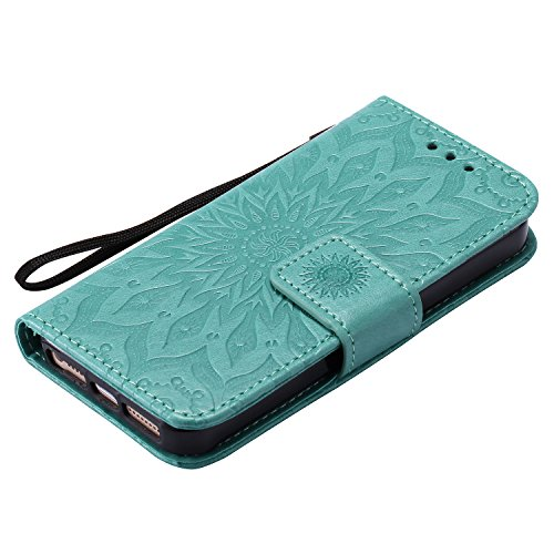 Coque iPhone 5 / 5G / 5S Case Wallet Phone Stand Cover with Credit Card Slots Flip Protective Case For Apple iPhone 5 / 5G / 5S -photo Frame Keychain (*/5) 1