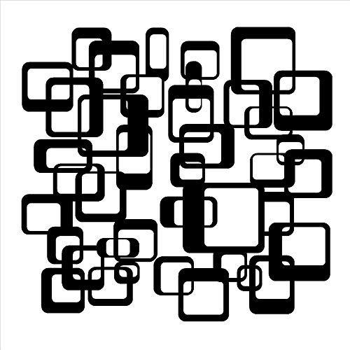 woyaofal Quadrate Muster Comtempory Wandkunst Aufkleber Abnehmbare Wohnzimmer Dekoration Moderne Retro Vintage Vinyl Wandaufkleber ly Z 59x56 cm