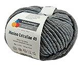Schachenmayr Merino Extrafine 40 - 392 mittelgrau meliert 50g Wolle by Schachenmayr