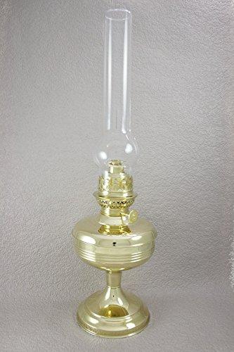 Lampe à pétrole Gaudard - Laiton massif poli - Hauteur 490 mm