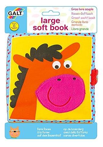 Galt Toys Large Soft Book, Farm Faces