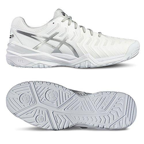 Asics Gel-Resolution 7, Scarpe da Ginnastica Uomo Bianco (White/Silver)