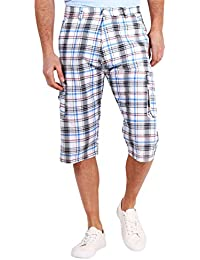 KRISP® Herren 3/4 karierte Sommer Shorts