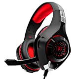 Gaming Headset f�r PS4 PC Xbox One, Beexcellent Komfortable� Crystal Clarity Sound Professional Kopfh�rer mit Mikrofon f�r Laptop Mac Handy Tablet Bild