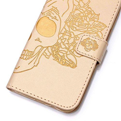 PU für Apple iPhone 7 Plus (5.5 Zoll) Hülle,Geprägte Campanula Handyhülle / Tasche / Cover / Case für das Apple iPhone 7 Plus PU Leder Flip Cover Leder Hülle Kunstleder Folio Schutzhülle Wallet Tasche 7