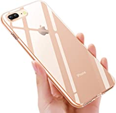 iPhone 8 Plus Schutzhülle , iPhone 7 Plus Silikon Hülle , solawill Crystal iPhone 8 Plus Handyhülle Ultra HD Kratzfest Anti-Shock TPU Bumper Schutzhülle für iPhone 7 Plus / iPhone 8 Plus -Transparent