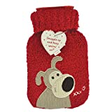 Boofle Mini Fluffy Red Hot Water Bottle by Boofle