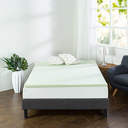 Zinus 5,1cm grün Tee Memory Foam Matratzenauflage, Queen, 1.5 Inch, Short Queen -