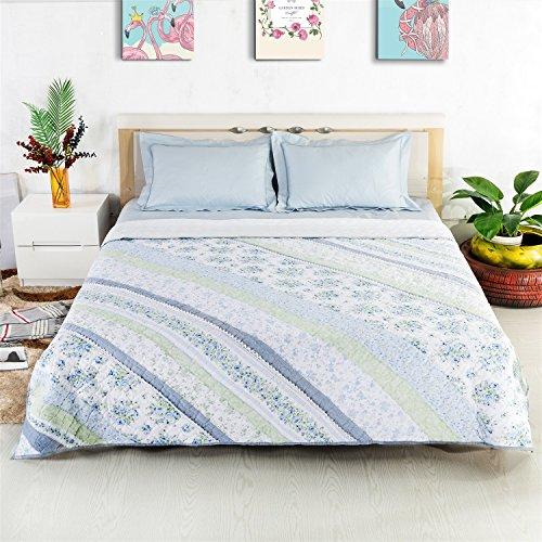 YAN Duvet Bett 100% Baumwolle Spitze seidig weiche Klimaanlage Sommer kühlen Quilt Frühling Sommer Herbst Winter 1 Bettdecke Bettbezug & 2 Kissenbezug Bettwäsche-Set -