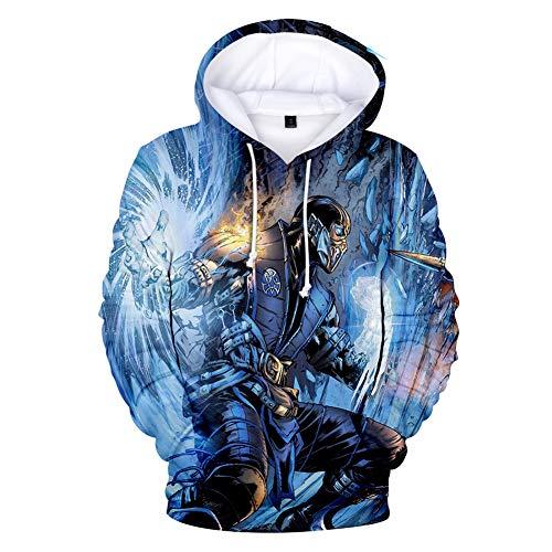 D Print Hoodie Hoodie Sweatshirt, Cosplay Mortal Kombat 11 Neue Pullover Reality Happiness 11 Kapuzenjacke Frühling und Herbst ()