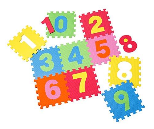 Knorrtoys 21001 - Puzzlematte 10-tlg. – Spielmatte Kinderspielteppich Spielteppich Schaumstoffmatte Matte bunt