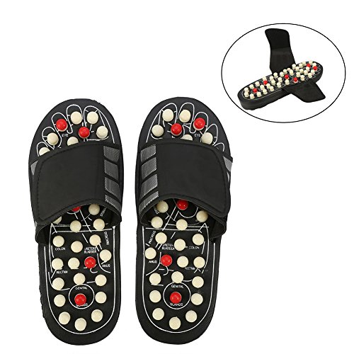 Massage-Schuhe Fußmassagegerät Massage Schuhe mit 41 TAi CHI Massagepunkte Fußreflexzonen Akkupressur für Fußpflege Entspannung für Männer und Frauen(38-39-Rotierende Punkte)