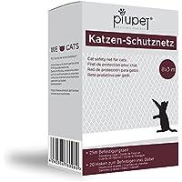 PiuPet Premium Katzen-Schutznetz inkl. 25m Befestigungsseil | Extragroß in 8x3m | Hochwertiges Sicherheitsnetz für Balkon & Fenster