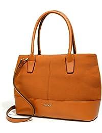 Kadell Women'S Handbag Pu Leather Tote Bag Shoulder Satchel Purse For Ladies Saddlebrown