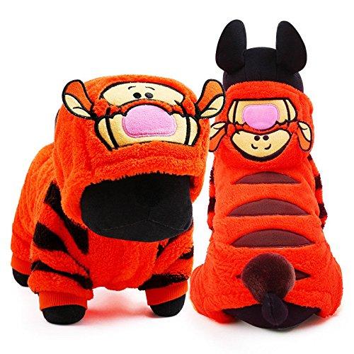FidgetGear Halloween-Kostüm für Hunde, Tiger, warm, für den Winter (Tiger Halloween-kostüme Für Hunde)