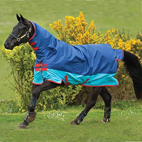 Horseware Strauchkwrd50 Amigo Mio Lite Alle In Einem Turnout Teppich 115cm Dark Blue/Aqua/Red -