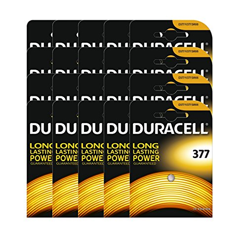 20 x Duracell 377 1.5v Silver Oxide Watch Battery Batteries SR626SW AG4 626 D377 377 Silver Oxide Watch Battery