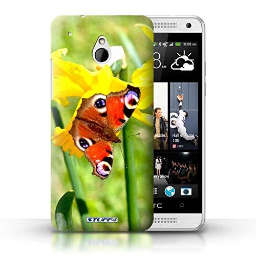 Kobalt® Imprimé Etui / Coque pour HTC One/1 Mini / Tournesols conception / Série floral Fleurs Papillon