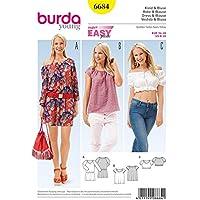 Burda B6684 Patron de Couture Robe et Blouse, Papier, Blanc, 19 x 13 x 1 cm