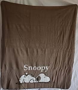 Snoopy Peanuts Decke Fleecedecke Sofadecke 120 x 150 cm natur Kuscheldecke
