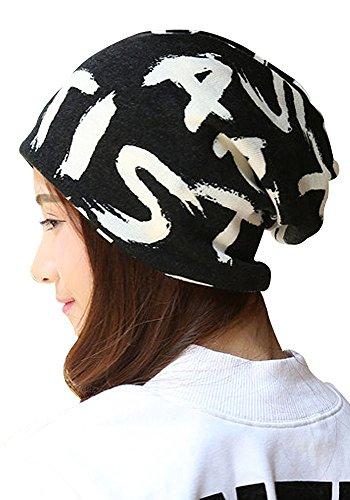 Kangqifen Damen Slouch Beanie Mütze,Baumwolle und Kaninchen-Haar Buchstabenmuster Strickmütze Skimütze (Mütze Erwachsenen Iron Man Fleece)