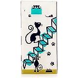 MUTOUREN TPU Case-für Sony Xperia XZ Schutzhülle/Hülle/Handyhülle-Silikon-Kasten-Abdeckungsschutz - Ultra dünn Durchsichtig Kristall Anti-scratch Drucken Handycover-Elegante Katze und Nette Pfotenabdrücke