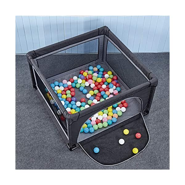 Playpens Extra Large Baby Playards Portable Assembled, Indoor Infant Safety Play Yard Children's Crawling Fence, Multicolor (Size : 120×120cm) Playpens  2