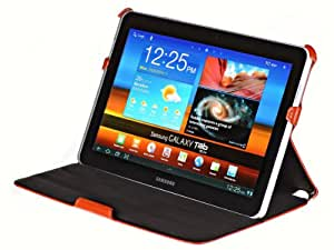 UltraSlim Case Tasche Samsung Galaxy Tab 10.1 & 10.1N P7500 Schutzhülle aus Echt Leder mit Standfunktion