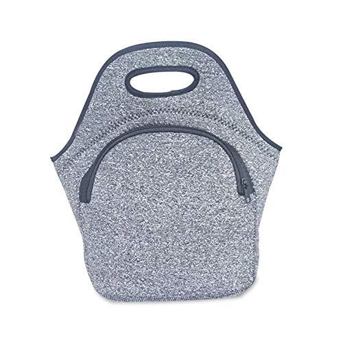 AxssjS Picknick im Freien Lunchpaket Thermisch isolierter Kühler Bento Zipper Storage Zipper Tote Dunkelgrau - Thermische Spandex