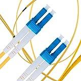 Cavo Fibra Ottica LC a LC 15M Monomodale Duplex - UPC/UPC - 9/125um OS1 (LSZH) - Giallo - Beyondtech Cavo di Fibre Ottiche Singolo – Serie Single Mode PureOptics