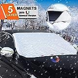 BACKTURE Protezione per Parabrezza, Auto Copertura Parabrezza con Magnete e Copertura specchietto retrovisore, Inverno Anti-Neve Impermeabile Anti-Gelo Auto Copriparabrezza (192 * 120cm)