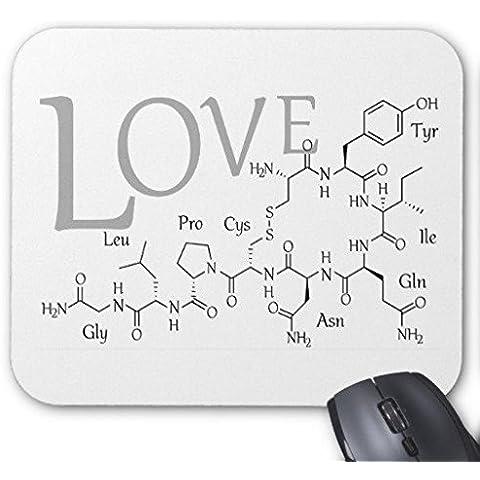 Gaming Mouse Pad Love droga Nero Bianco Rettangolo Ufficio Mouse 22,9x 17,8cm