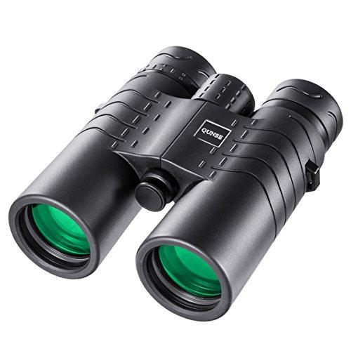 QUNSE® HD Fernglas für die Reisenden - 8X42 Kompakt, Wasserdicht und Staubdicht - großes Objektiv und Okular, extrem klares großes Sichtfeld - leicht und handlich, geeignet für die klare Vogelbeobachtung, Sport im Freien, Konzerte, Reisen, Jagd, etc. Polaroid-kamera-licht-gelb