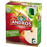 Andros gourdes pomme nature 4x90g Envoi Rapide Et Soignée ( Prix Par Unité )