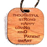 Cherrywood Grandpa Keyring for Valentines Day Birthday Fathers Day Christmas Gift